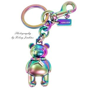 COACH 3D Hologram Bear Bag Charm Keychain